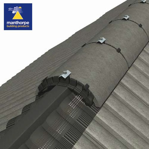 Manthorpe Roll Out Dry Vent Ridge System Terracotta 6m