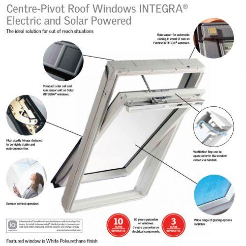 velux ggu u04 006530 solar integra window 134x98cm centre. Black Bedroom Furniture Sets. Home Design Ideas