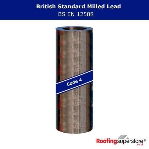 Lead Code 4 - 150mm x 6m Roofing Lead Flashing Roll