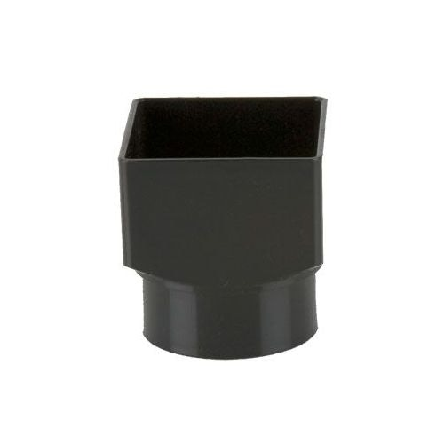 Plastic Guttering Square Downpipe To Round Adaptor 65mm