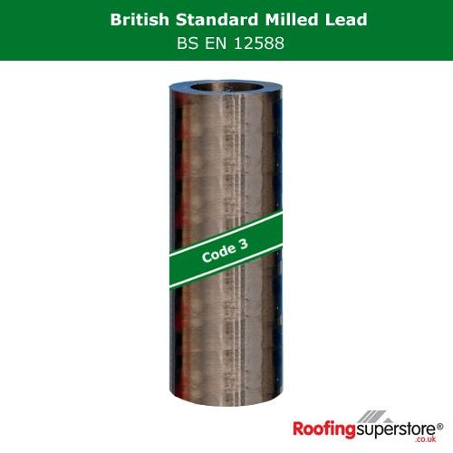 Lead Code 3 - 150mm x 6m Roofing Lead Flashing Roll