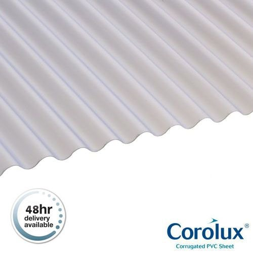 PVC Mini Corrugated Roofing Sheets (Translucent) - 2.44m x 0.662m