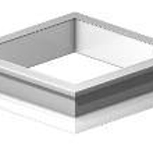 Whitesales PVC Em-Curb Upstand For 550mm Flat Roof