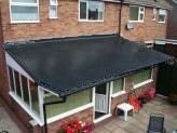 Black fibreglass top coat
