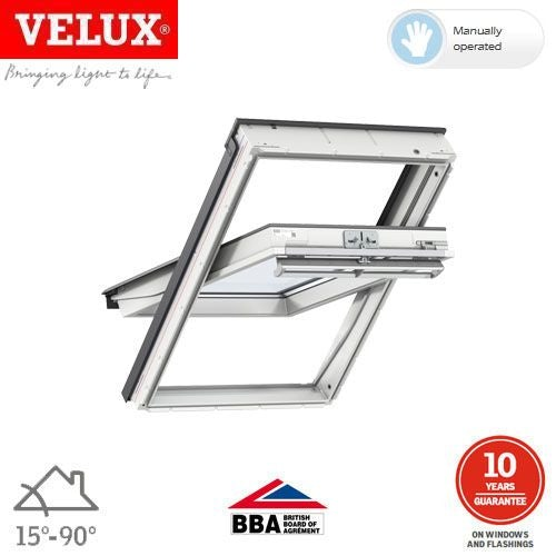 velux ggu mk06 0066 white centre pivot window triple glaze. Black Bedroom Furniture Sets. Home Design Ideas