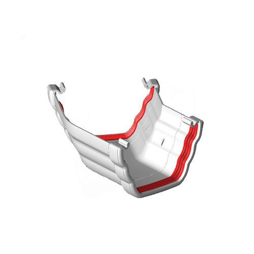 Freeflow 150 Degree Ogee Style Gutter Angle White