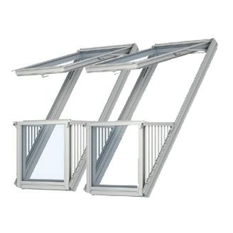 Special 2 x velux cabrio balcony systems with 120mm gap for Velux customer support