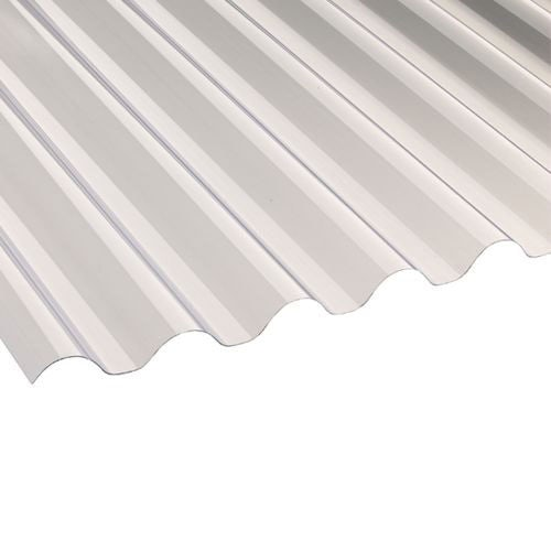 Corolux PVC Corrugated Roofing Sheets (77/20 Clear) - 1.8m x 660mm x 0.8mm