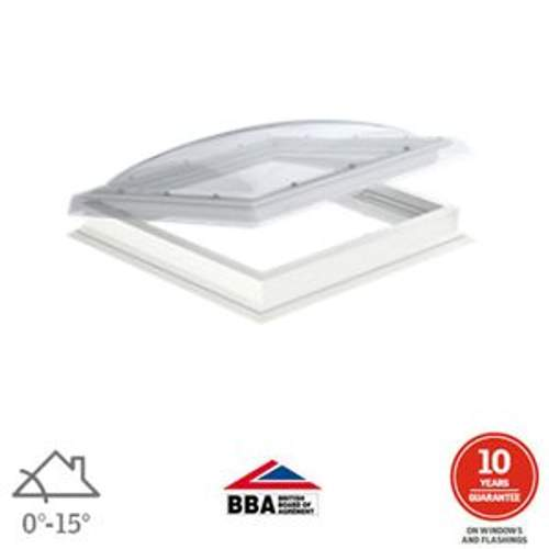 VELUX Flat Roof Window Clear Manual Dome and Kerb - 600mm x 900mm