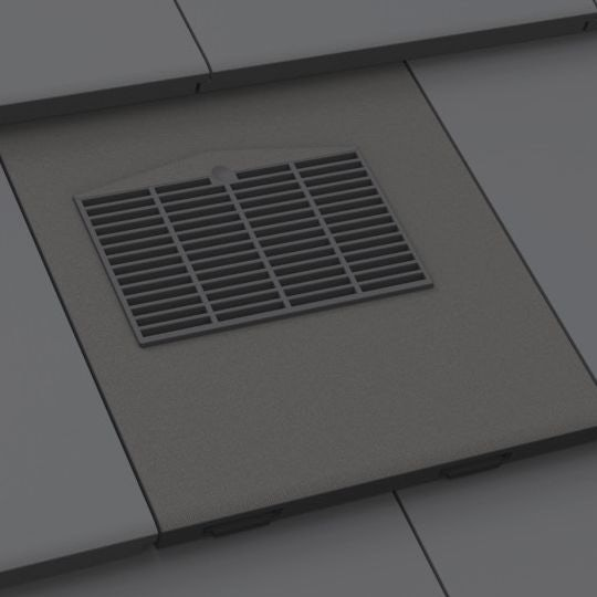 Manthorpe Thin Leading Edge In Line Tile Vent Slate Grey