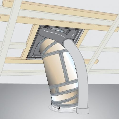 Velux ztv 014 sun tunnel ventilation outlet kit roofing for Outlet velux