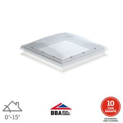 VELUX Flat Roof Window Opaque Fixed Dome and Kerb - 600mm x 600mm