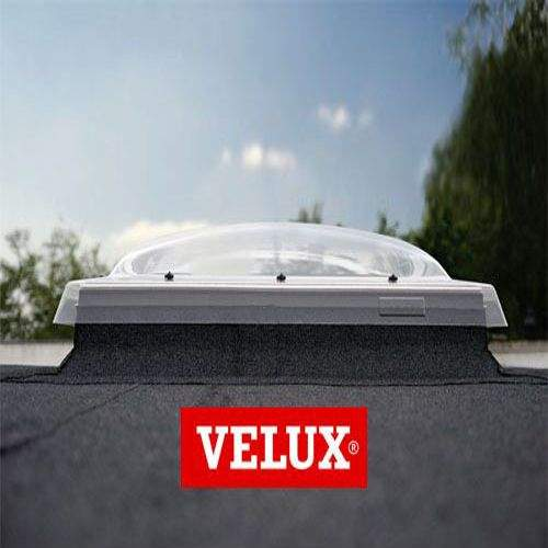 VELUX Flat Roof Window Clear Fixed Dome and Kerb - 1000mm x 1000mm