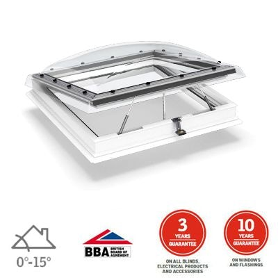 Video of VELUX Flat Roof Window Clear INTEGRA Dome and Kerb - 1000mm x 1000mm