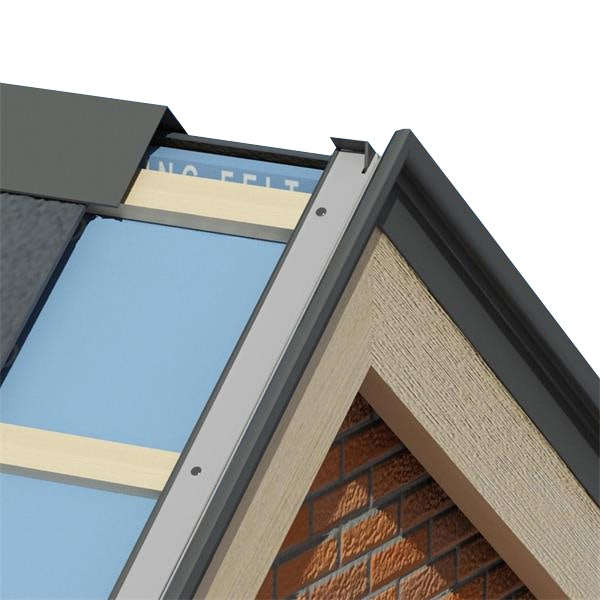 Kytun Aluminium Dry Verge For Natural Slates T2 25mm In