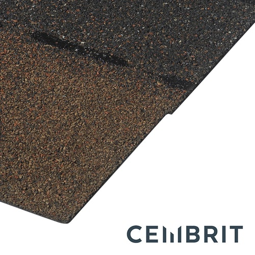 Cembrit Square Butt Bitumen Roofing Shingles (Brown) - 3m2 Pack