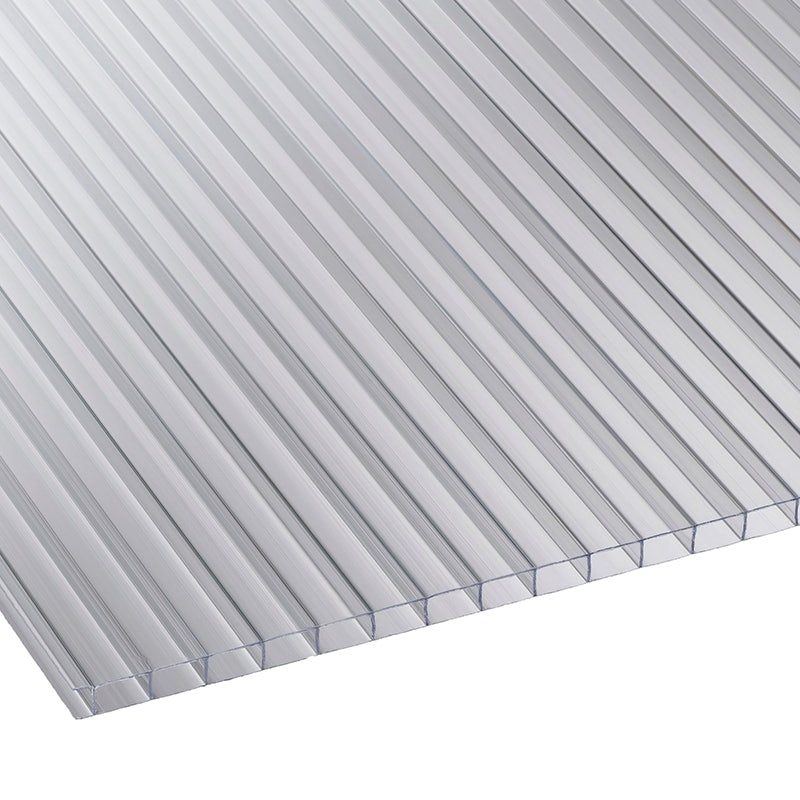 Corotherm 10mm Clear Twinwall Polycarbonate Sheet - 2500mm x 1050mm