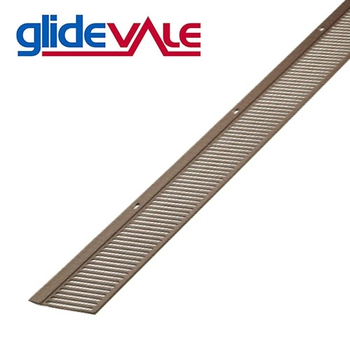 Glidevale Brown Continuous Soffit Vent For Flat Roofs