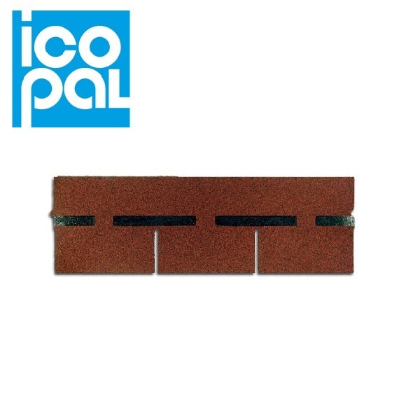 Icopal Standard Roofing Shingles Chesnut Brown 3m2