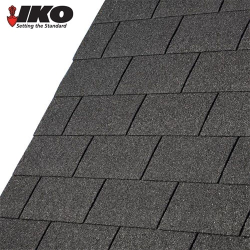 IKO Armourglass Plus Square Butt Roofing Shingles (Black) - 2m2 Pack