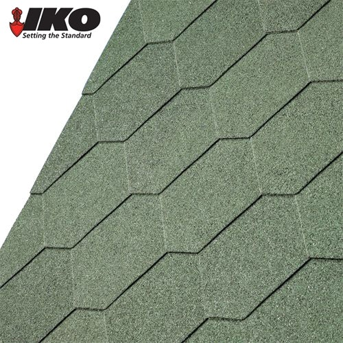 Video of IKO Armourshield Hexagonal Roofing Shingles (Forest Green) - 3m2 Pack
