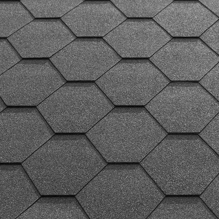 Katepal super kl hexagonal bitumen roofing shingles 3m2 for How many types of roofing shingles are there