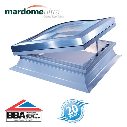 Mardome Ultra Double Skin Electric Rooflight in Clear - 600mm x 600mm