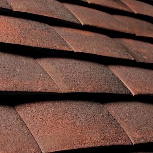 Sandtoft plain roof tile alban sussex blend roofing for Buy clay roof tiles online