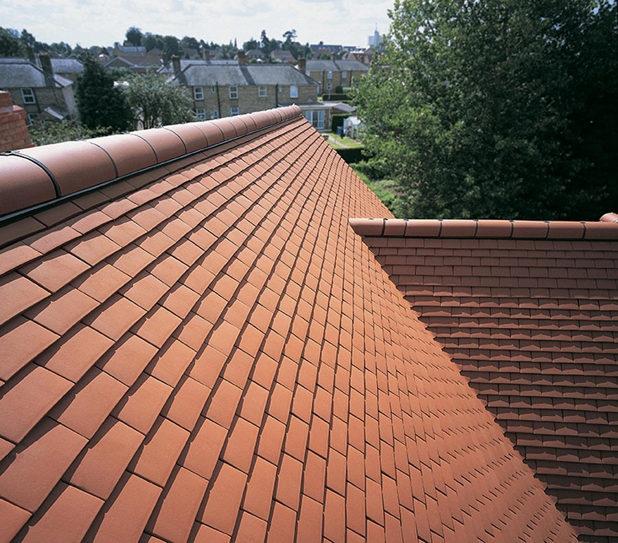 Sandtoft Humber Plain Clay Roof Tile Natural Red