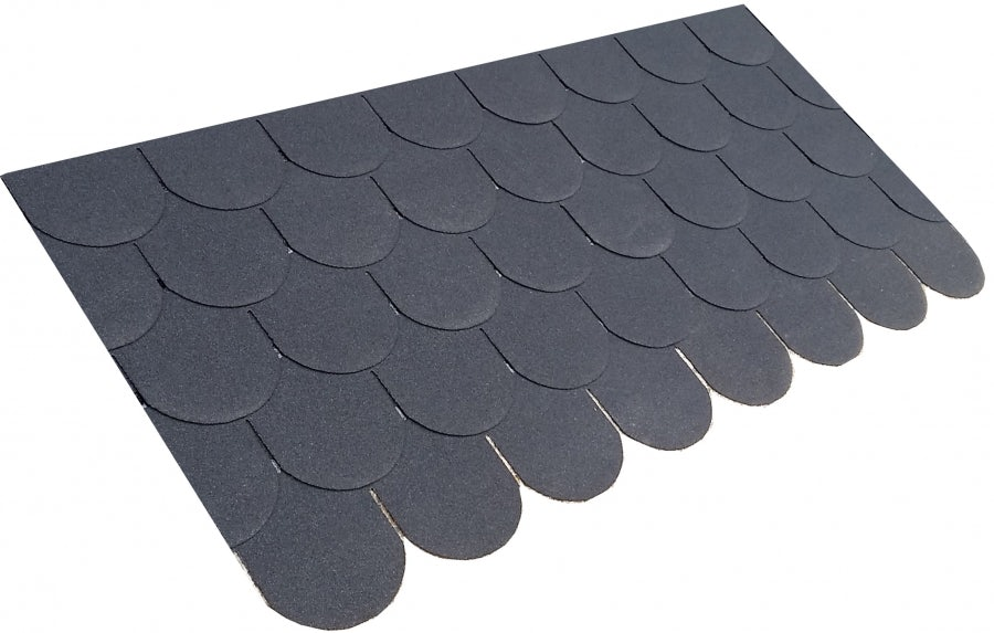 Roofing Superstore Scalloped Roofing Felt Shingles in Black 3m2 – Scalloped Roof Shingles