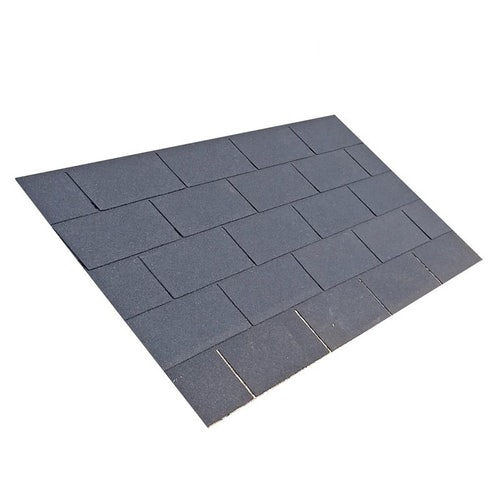 Square Butt 3 Tab Roofing Felt Shingles in Black - 3m2 Pack