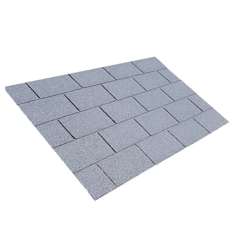 Video of Square Butt 3 Tab Roofing Felt Shingles in Grey - 3m2 Pack