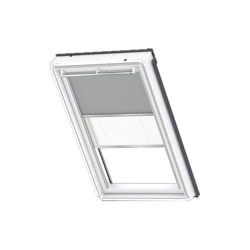 Velux Manual Duo Blackout Blind Dfd M08 1705 Light Grey