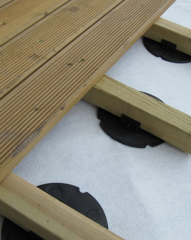 Wallbarn 6mm Rubber Timber Decking Pad Roofing Superstore