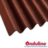Onduline Corrugated Red Bitumen Roof Sheet - 2m x 950mm