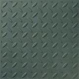 Green Checkerplate Promenade Tile  (297mm x 297mm x 12mm)