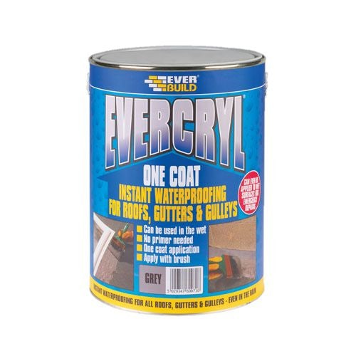 Everbuild Evercryl One Coat - 5kg Black