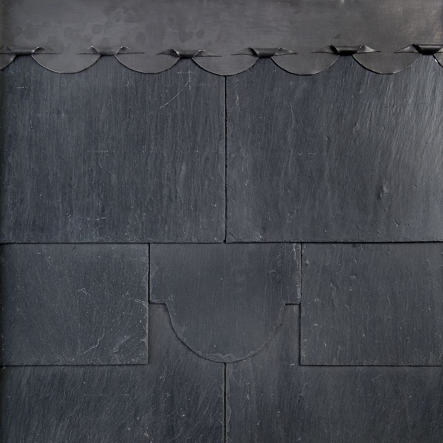 Mocha SS04F Spanish First Quality Natural Slate in Black - 500mm x 250mm