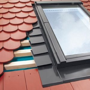 EPV/01 Fakro Single Flashing For Plain Tiles Up To 15mm - 55cm x 78cm
