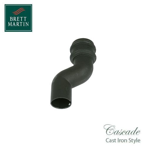 Cascade Cast Iron Style 75mm Round Downpipe Offset Bend - Black