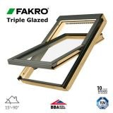 Fakro FTP V U5/07 Pine Centre Pivot Window Triple Glazed - 78 x 140cm
