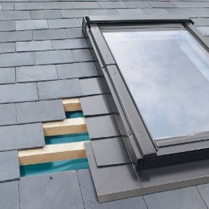ELV/43 Fakro Single Flashing For Slate Up To 8mm Thick - 94cm x 206cm