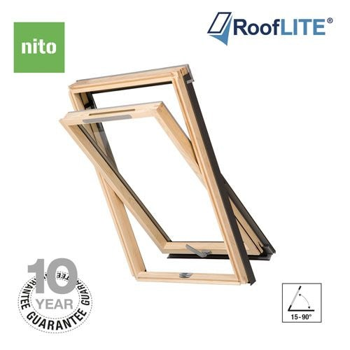 RoofLITE Nito Centre Pivot Pine Roof Windows - 55cm x 78cm