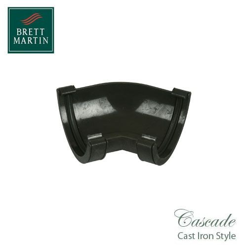 Cascade Cast Iron Style 112mm Style Roundstyle 135dg Angle - Black