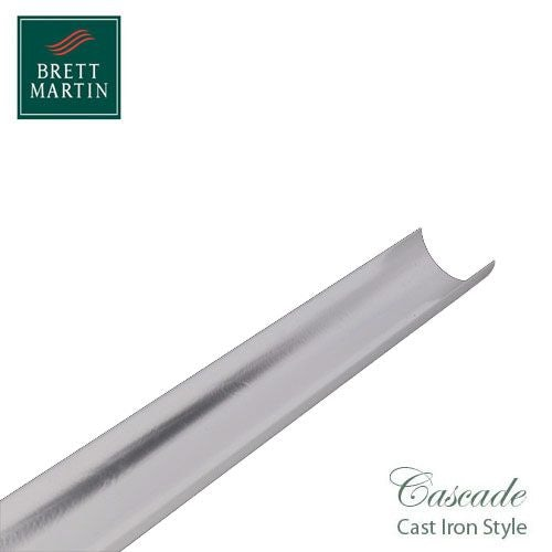 Cascade Cast Iron Style 112mm x 2m Plastic Roundstyle Guttering White
