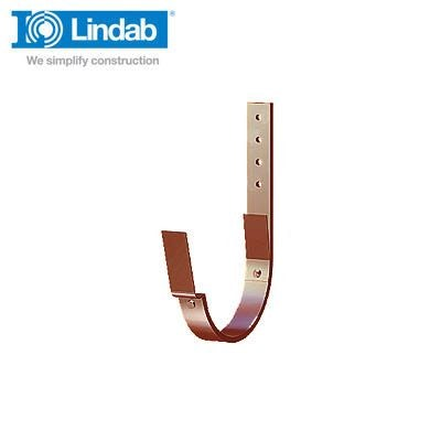 Lindab Half Round Fascia Bracket 190mm Painted Dark Red