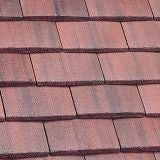 Marley Concrete Plain Roof Tile - Old English Dark Red