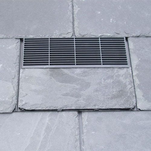 Nature Vent 500mm x 250mm Slate Vent - Black