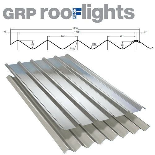 GRP DoubleSix M Translucent Roof Sheet (Class 3 - 2.4kg/m2) - 1830mm