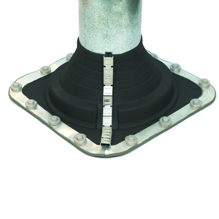 Pipe Flashing for Metal Roofs 45-85mm Dektite Combo Black EPDM